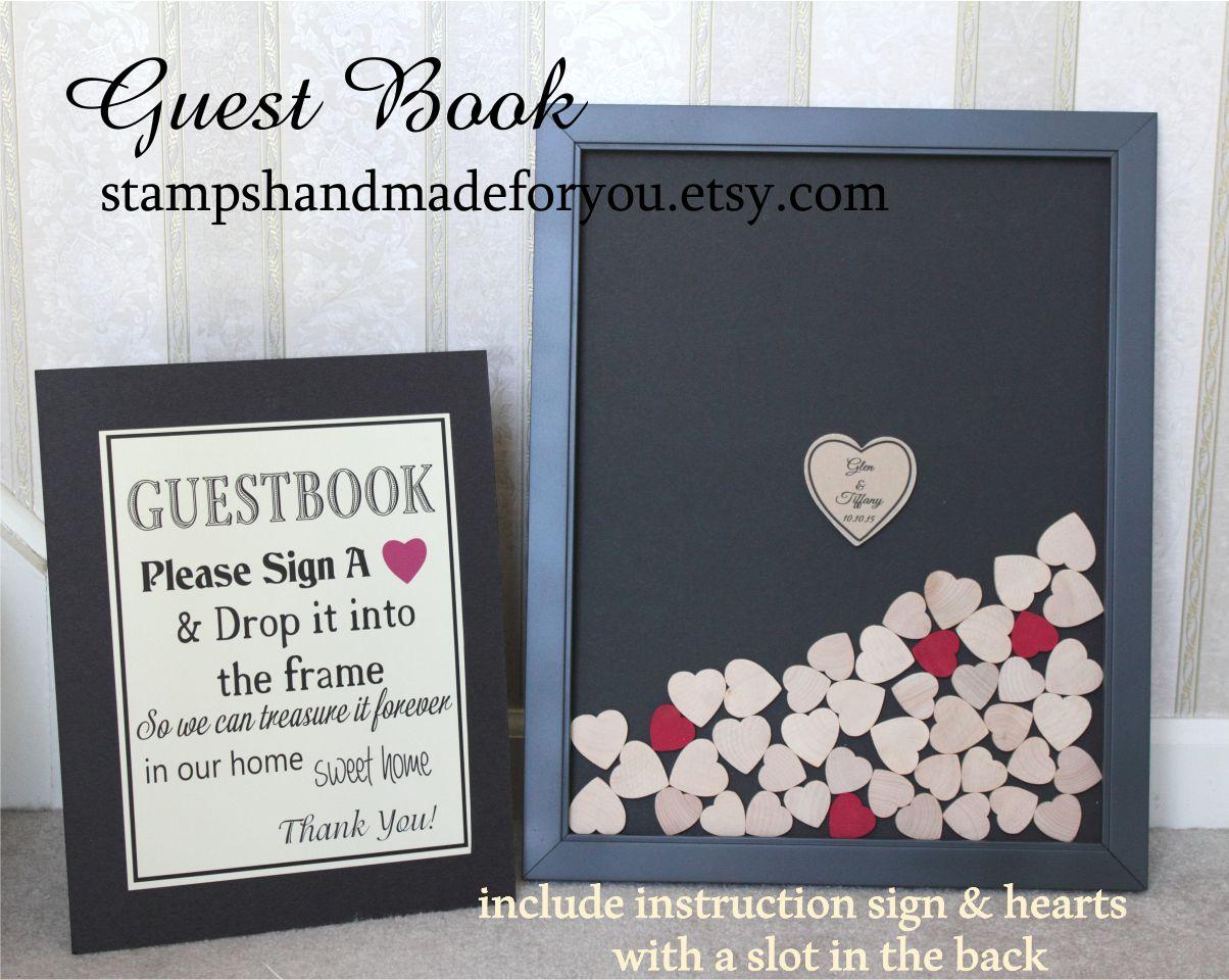 Guestbook Wedding alternative Gray wedding guest book Unique guest ...